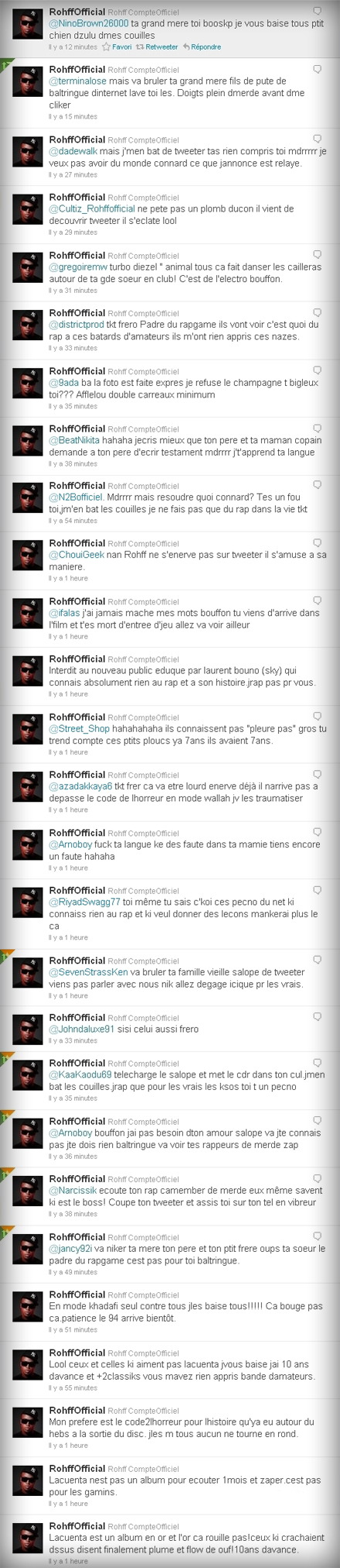Rohff sur Twitter